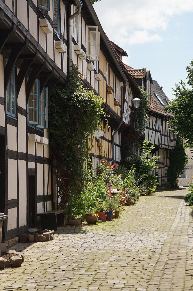 Historische Gasse in Detmold.
