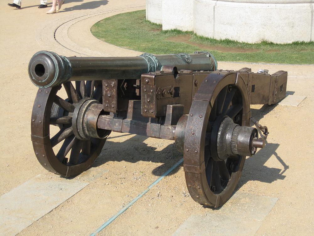 Kanone aus dem Spätmittelalter